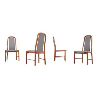 4 Restored Benny Linden Teak Chairs