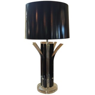 Vintage Black and Clear Acrylic Lamp