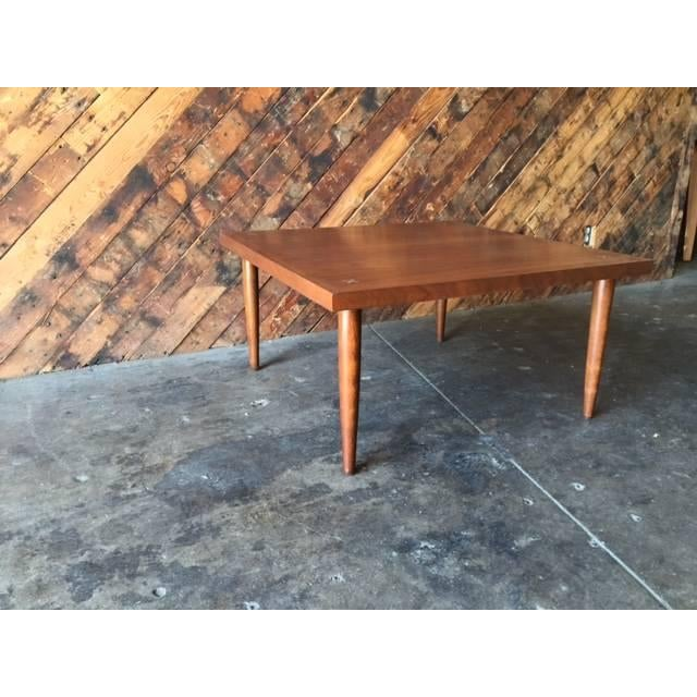 American of Martinsville Walnut Inlay Coffee Table - Image 5 of 7
