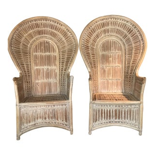 Vintage Bamboo Peacock Chair - A Pair