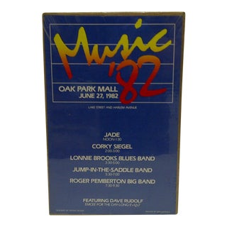 "Circa 1982 ""Music '82 Concert Series"" Poster"