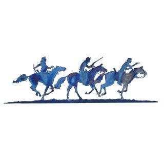 Wild West Cowboys in Steel Cutout Wall Art