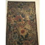 Image of Antique French Handpainted Leather Screen Panel