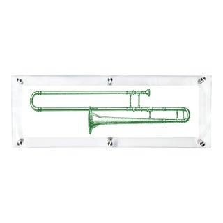 Mitchell Black Home Green Trombone Art