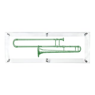 Mitchell Black Home Green Trombone Art