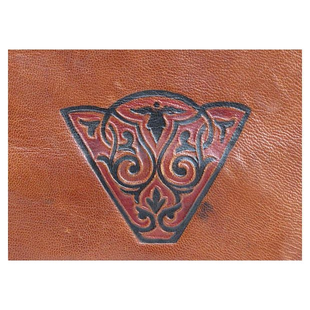 Vintage French Handcrafted Leather Satchel - Image 3 of 9