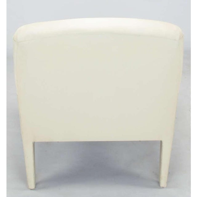 Pair Vladimir Kagan Lounge Chairs In Ivory Silk - Image 6 of 9