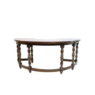 English Oak Half Round Desk