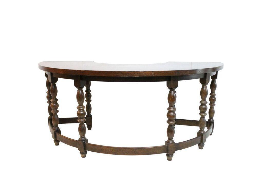English Oak Half Round Desk
