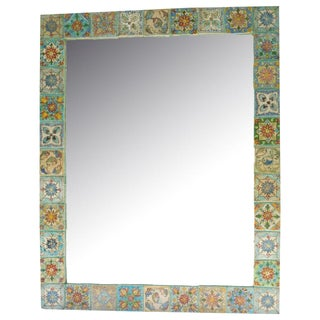 Persian Ceramic Tile Mirror
