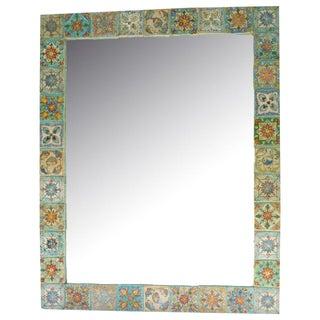 Persian Ceramic Tile Mirror