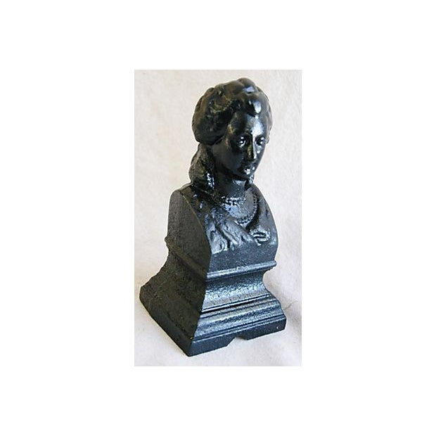 Antique 19th C. French Iron Female Bust Fragment - Image 3 of 7