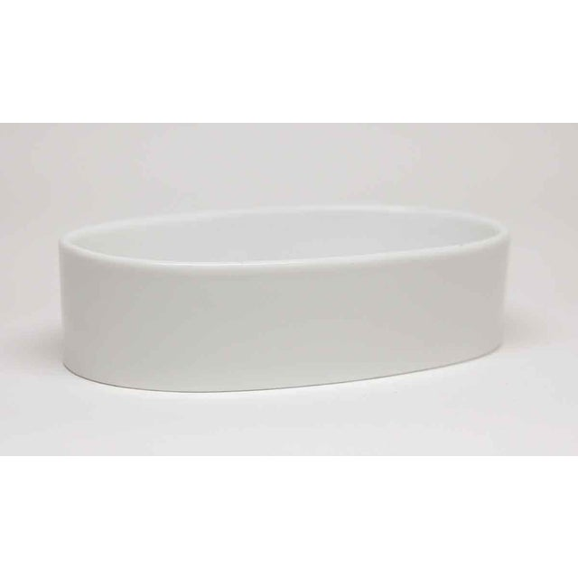 Vintage Oval White Ceramic Soap Dish Chairish