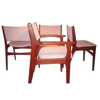 Mid-Century Danish Modern Rosewood Dining Chairs - Set of 4