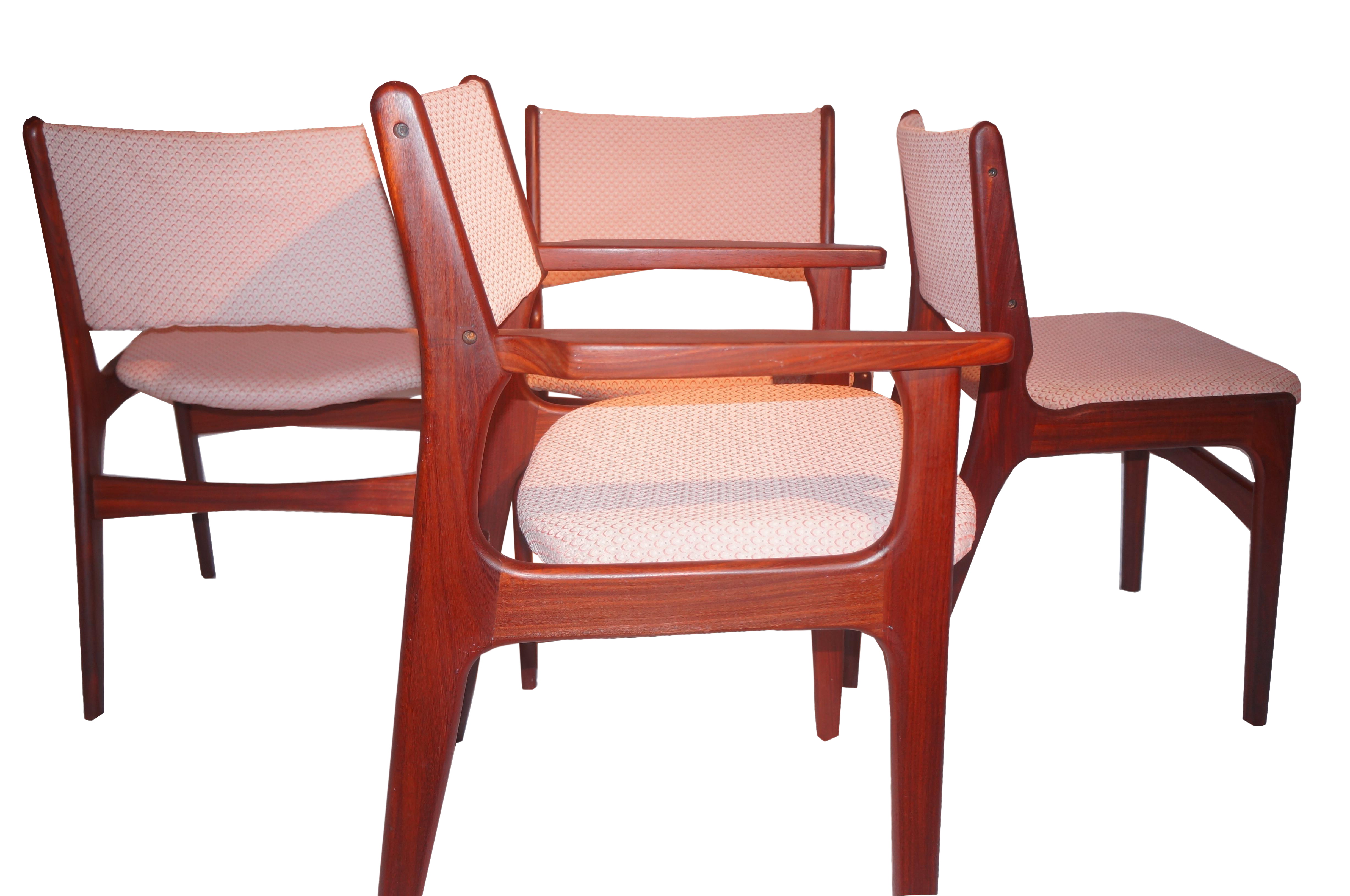 midcentury danish modern rosewood dining chairs set of 4 image 1 of