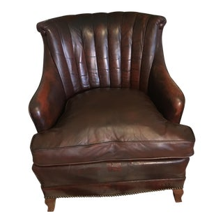 1930 French Leather Club Chair