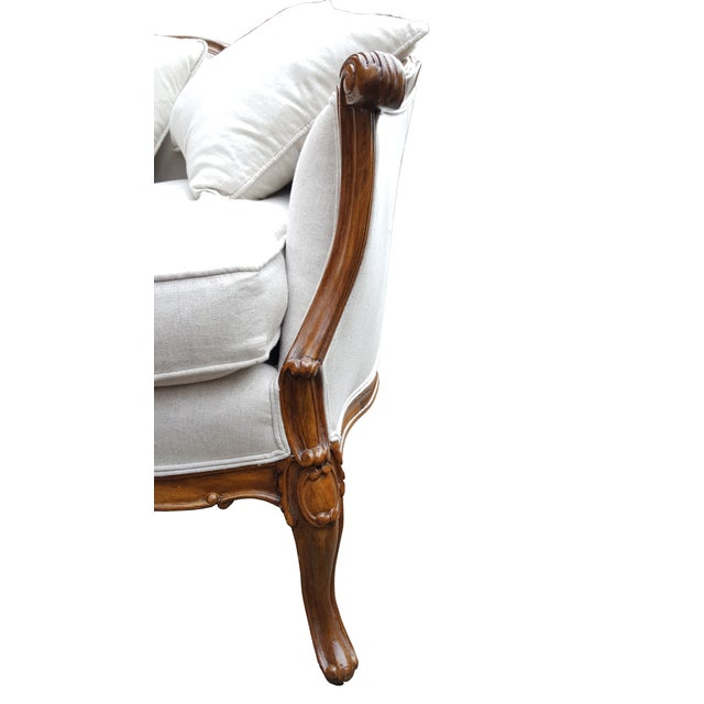 French Louis XV Style Love Seat - Image 4 of 6