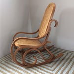 Image of Vintage Bentwood & Cane Child's Rocking Chair