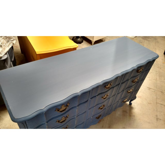 Navy French Provincial Dresser - Image 5 of 6