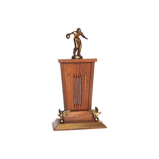 1962 Mid-Century Bowling Trophy - Image 1 of 4