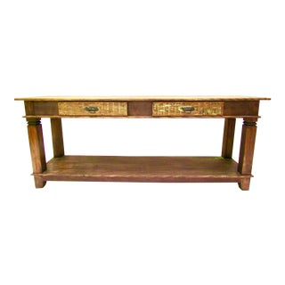 Antique Console Table - Eco-Friendly Reclaimed Solid Wood