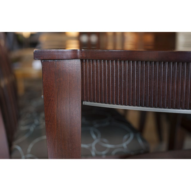 Ethan Allen Dark Mahogany Stained Dining Set - Image 3 of 8