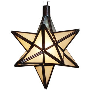 Moroccan Style Frosted Star Lantern