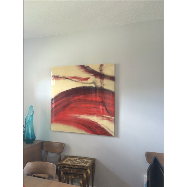 Image of Crimson Wash Contemporary Wall Art
