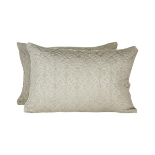 Highland Court by Duralee Silk Pillows - A Pair