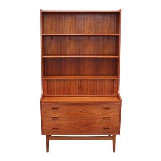 Danish Mid-Century Modern Secretary Bookcase