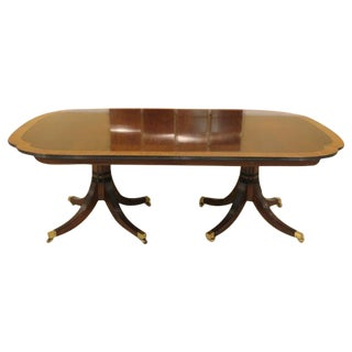 Karges Cross-Banded Mahogany Dining Room Table