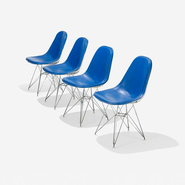 Blue Eames DKR-1s Dining Chairs - Set of 4 - Image 2 of 4