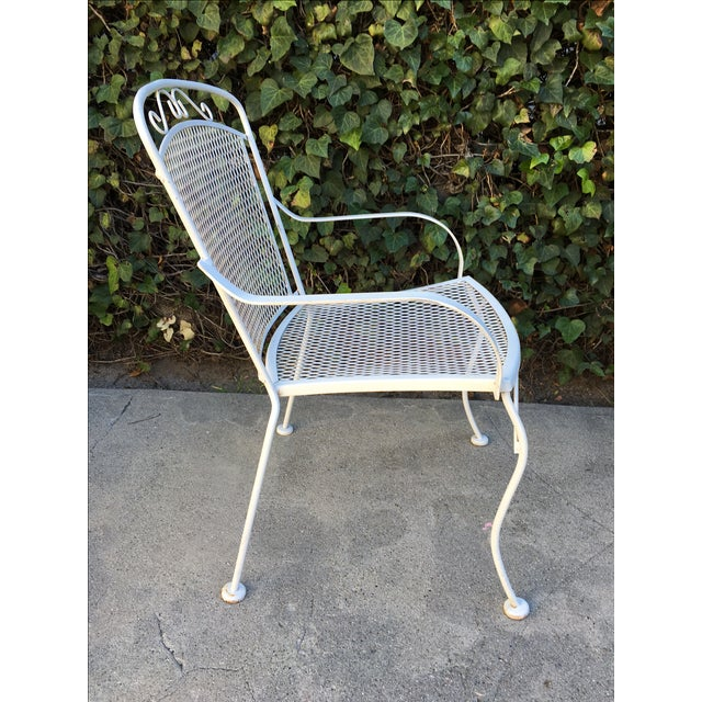 White Outdoor Patio Chairs - A Pair - Image 4 of 4