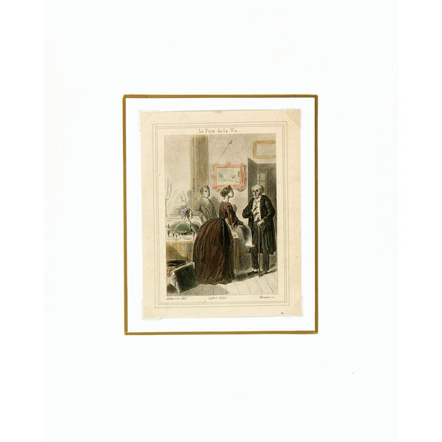 Antique French Engraving, C. 1860 - Image 3 of 4