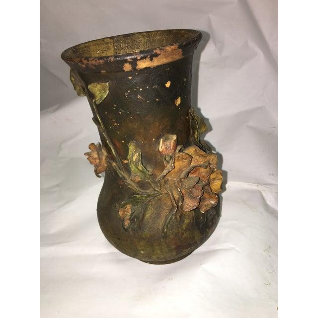 Ceramic Rose Motif Vase - Image 2 of 8