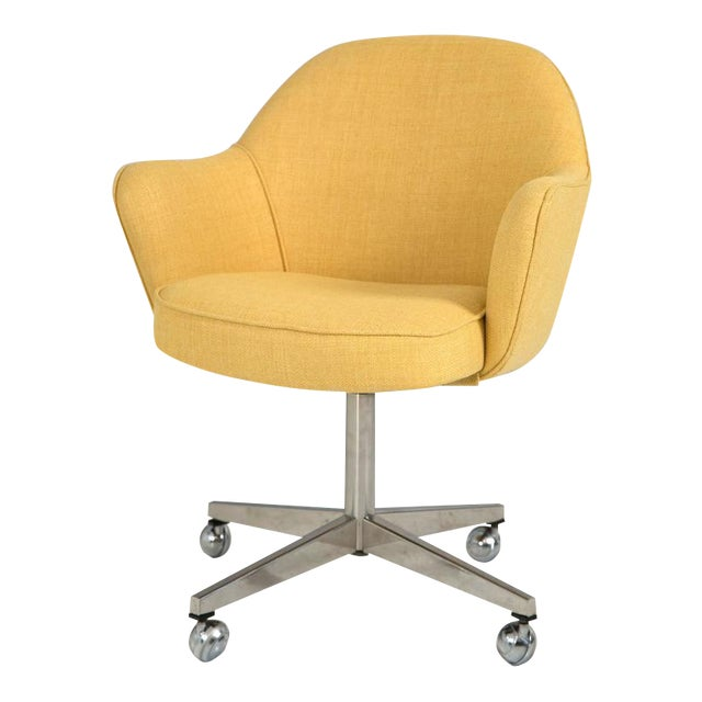Knoll Desk Chair in Yellow Microfiber - Image 1 of 9