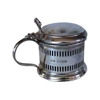 1928 English Sterling Silver Mustard Pot