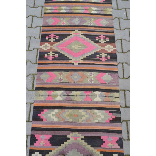 Hand Woven Vintage Turkish Runner - 2′7″ × 9′2″ - Image 8 of 10