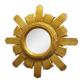 Round Gilded Sunburst Mirror
