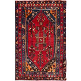 "4'2"" x 6'6"" Hamadan Vintage Persian Rug"