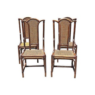 French Maugrion Rattan Chairs - Set of 4