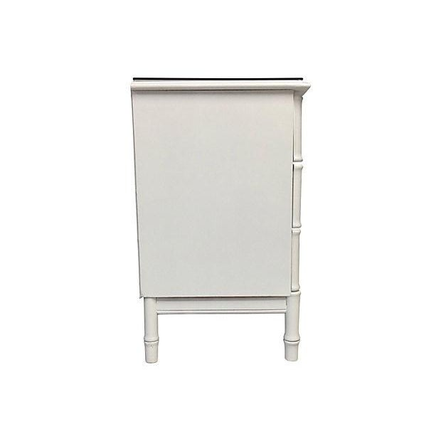 Image of 9-Drawer White & Metallic Gold Credenza