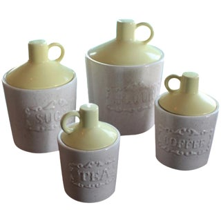 Vintage Mid-Century Canisters - Set of 4