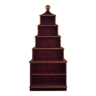 Vintage Chinoiserie Pagoda Bookshelf