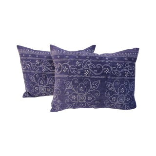 Indigo Batik Pillows - A Pair