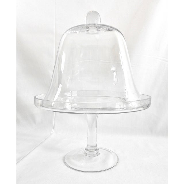 Glass Cake Stand With Dome Cover Chairish