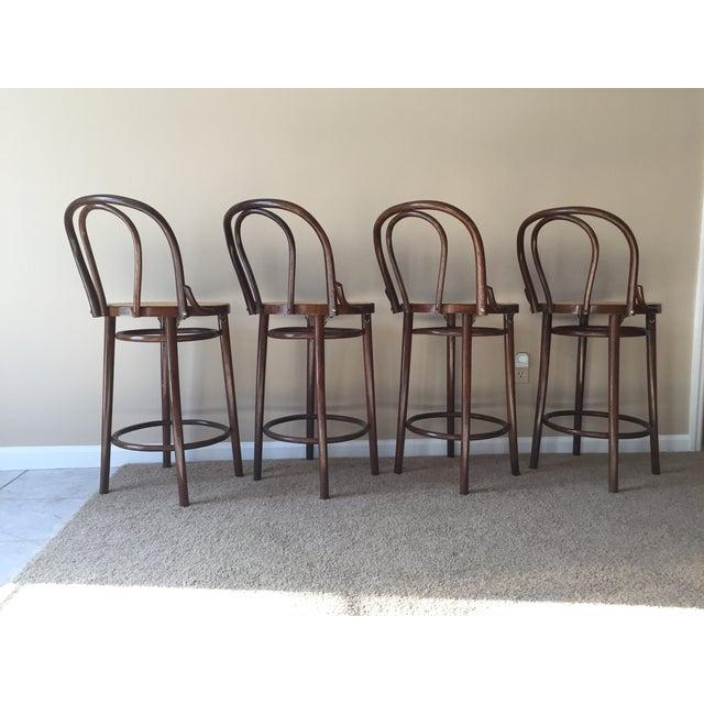 Thonet Style Bentwood Bar Stools - Set of 4 - Image 10 of 11