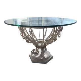 Balinese Steel & Glass Table