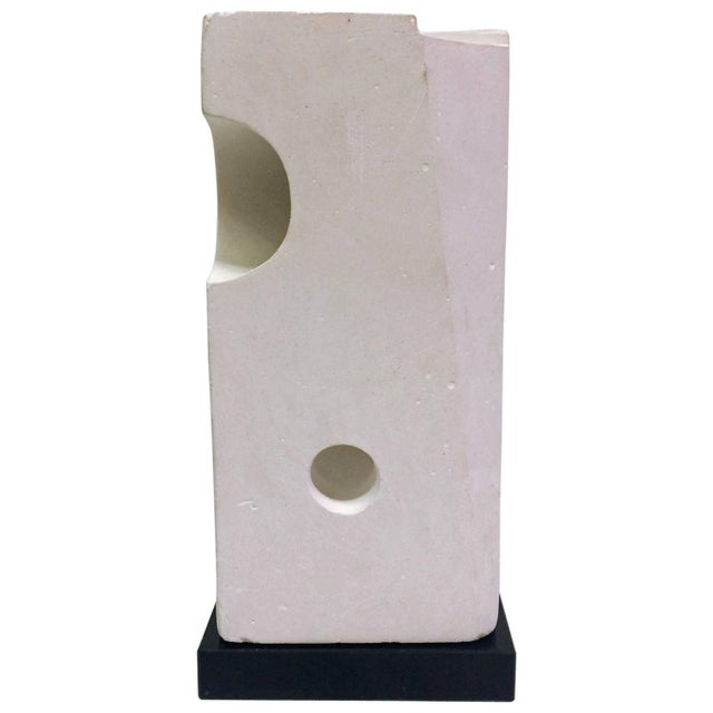 White Plaster Geometric Sculpture - Image 1 of 6