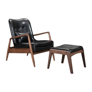 Bully Leatherette Lounge Chair and Ottoman